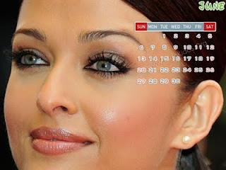 Aishwarya Rai 2010 June Calendar