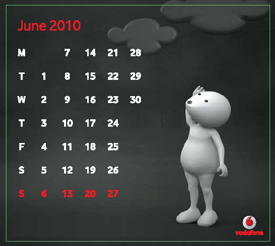 So, remember that special day by setting this June 2010 Calendar Wallpaper