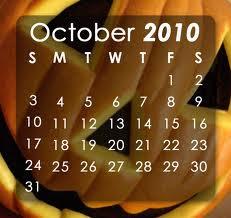 October 2010 Calendar Wallpapers