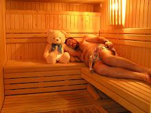 En la sauna seca