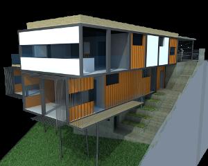 Proyectos de arquitectura casas en parcelas con desnivel - Casas en pendiente ...