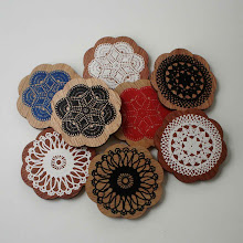 Mixed colour doily brooches