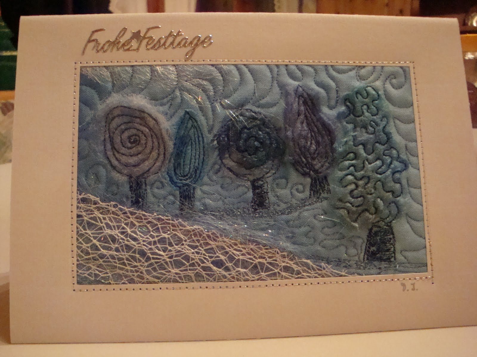 Kreativ mit patchwork for Weihnachtskarten kreativ