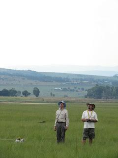 Friends from afar: Dennis Bird & Allan Sneedon from KZN