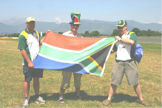 The proud South African WAG team; (l-r) Alan, Stephane & Mark