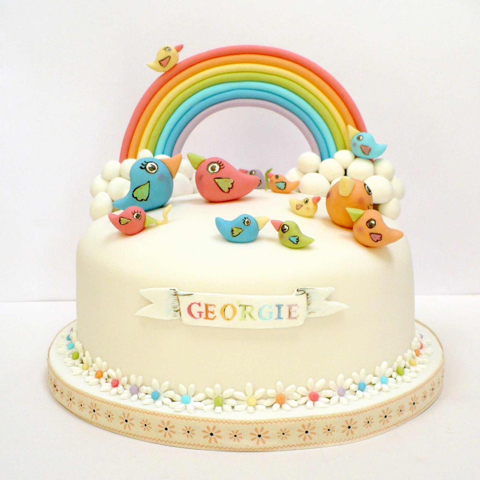 Bird Rainbow Cake