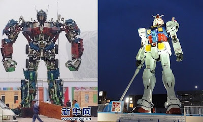 China's Life-Sized Optimus Prime Statue [Where are our Robots?]