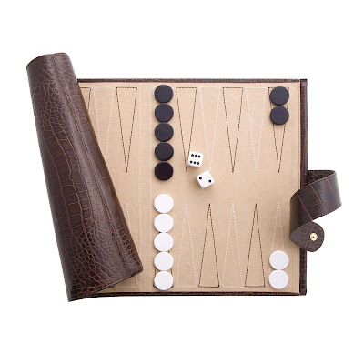 luxury smythson travel backgammon set