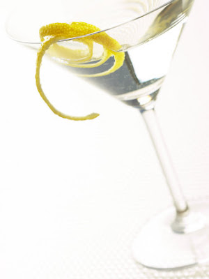 martini with lemon twist