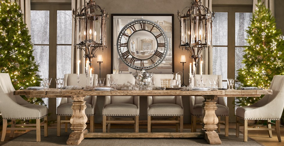 Ser en dip i tee design for Restoration hardware dining room ideas