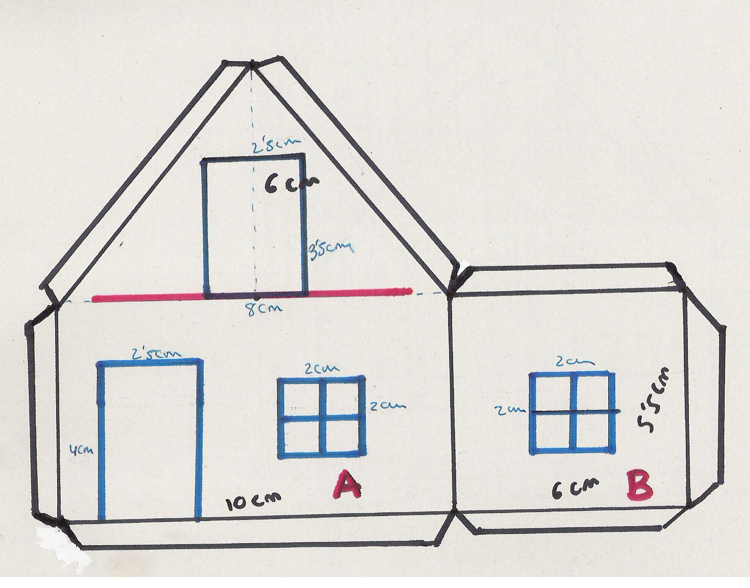 Casa para recortar imagui - Como hacer un plano de una casa ...