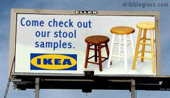 Ikea billboard: Check out our stool samples