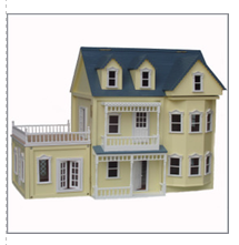 Yellow Dollhouse with Conservatory $550.00