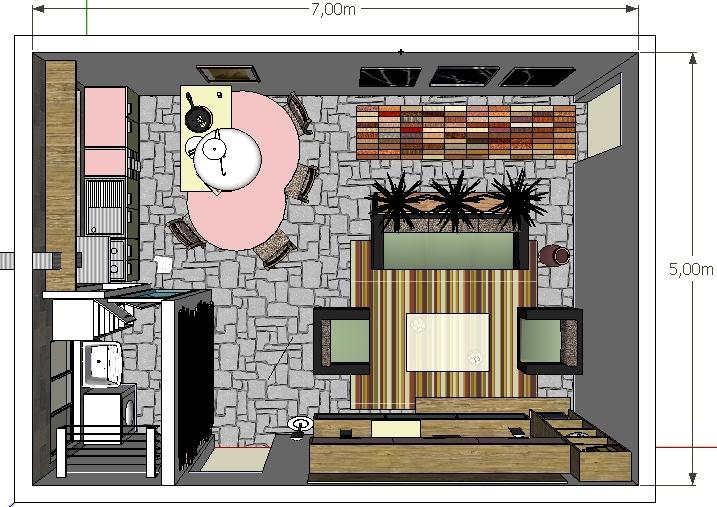 decoracao cozinha e area de servico integradas:Uma cozinha integrada a sala de estar e área de serviço