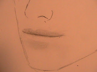 how to draw males lips