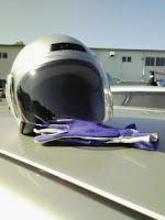 国内Aライセンス講習会レンタルしたグローブとヘルメットの巻。