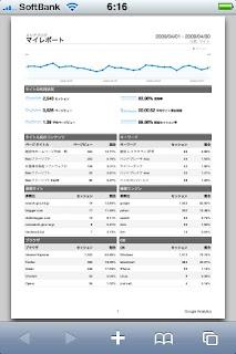 2009年4月度のメシアブログのアクセス解析