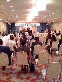 平成21年度の越谷市国際交流協会総会開催