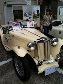 越谷市民まつりクラシックカー展示MG-TC Type Midget