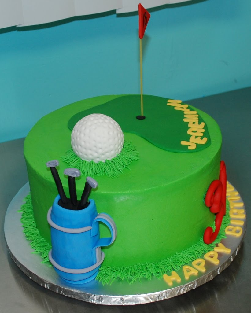 The Bakery Next Door: Golf Birthday Cake