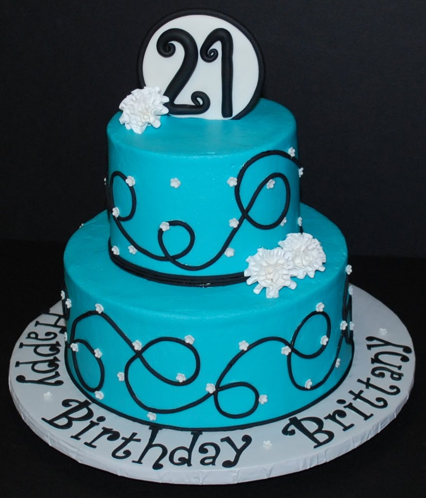 Happy 21St Birthday Cakes http://lizandbeccabake.blogspot.com/2010/10/swirls-flowers-birthday-cake.html