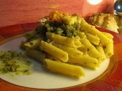 Pistachio Pesto On Penne Recipe — Dishmaps