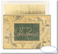 customized christmas business cards