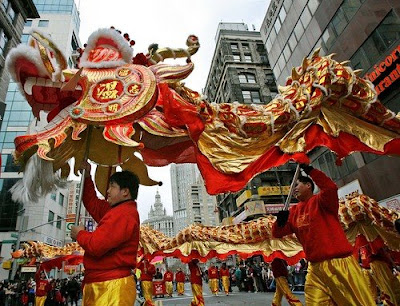 tradition of chinese new year parade