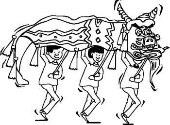 chinese parade coloring pages chinese new year coloring pages