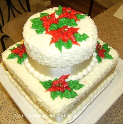Birthday and party cakes christmas cake decorating ideas 2010 for Decoration ideas for christmas cake