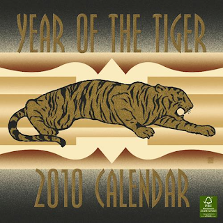 Chinese Year of the Tiger 2010 Greeting Card