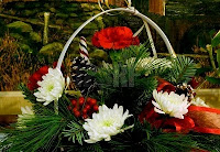 Christmas Flower Basket Ideas