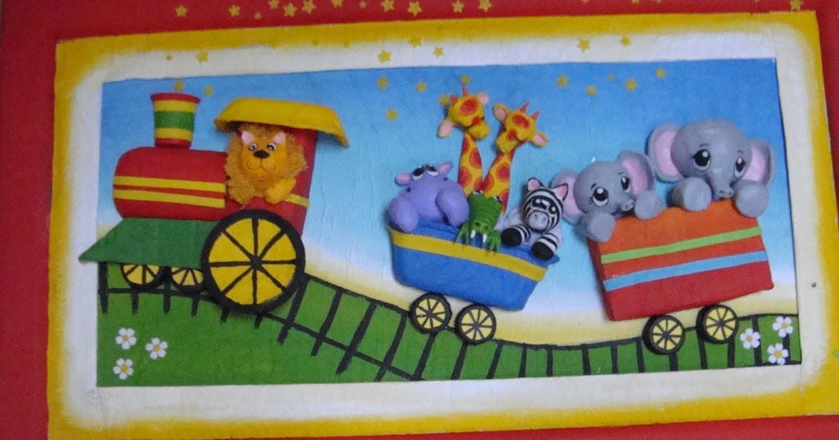 Cuadros infantiles el tren - Cuadros decorativos infantiles para ninos ...