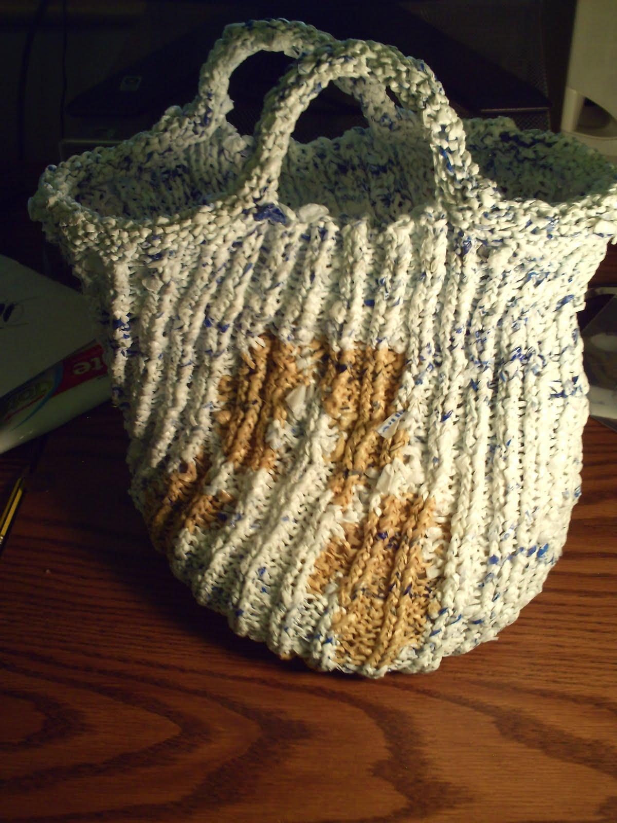 Garden Of Forking Paths Plarn Knit Bag Pattern