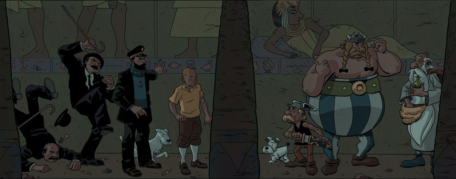 Pastiches, detournements, plagia de vos personnages préférés ! - Page 6 Shaner_tintin%2Bmeets%2Basterix