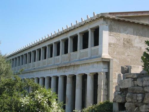 Navegando con mercurio arquitectura civil griega la stoa for Arquitectura de grecia