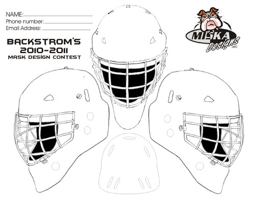 Niklas Backstrom Wants A New Design For His Goalie Mask This Season He To Give Fans 18 And Under Chance It After The July 15 Deadline