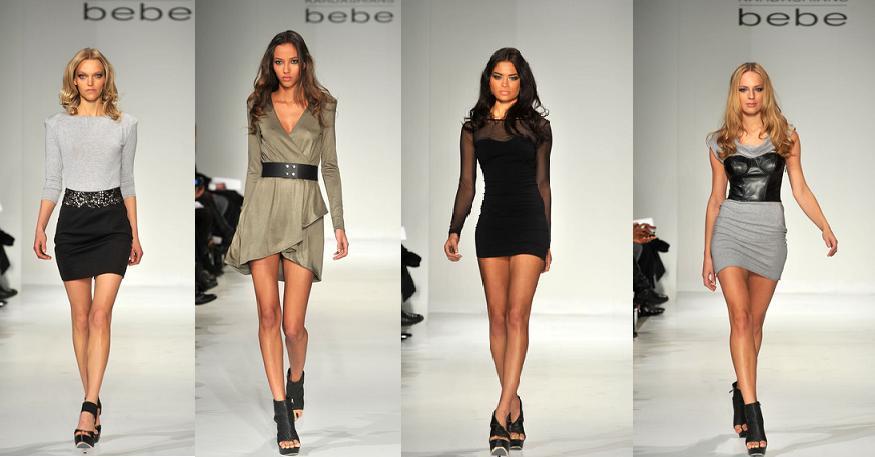 Одежду Bebe можно заметить на социальные мероприятиях, таких как Неделя мод
