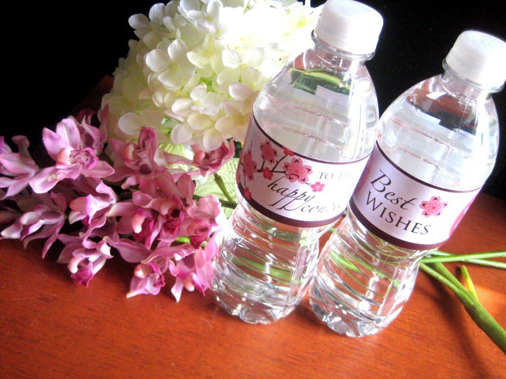 blue finch studios  free  wedding shower water bottle labels