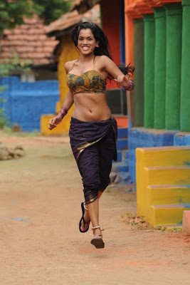 Item Girl Pooja Hot navel show Stills