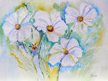 Fantasie witte bloem (te koop)