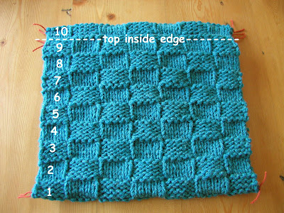 Hand Knitted Things Checkerboard Cushion Cover