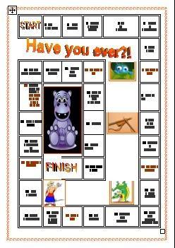 englishprintables: Have you ever ... ? game
