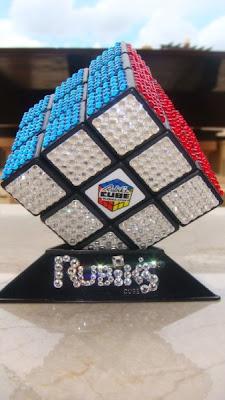Rubik Cube With Swarovski Stones