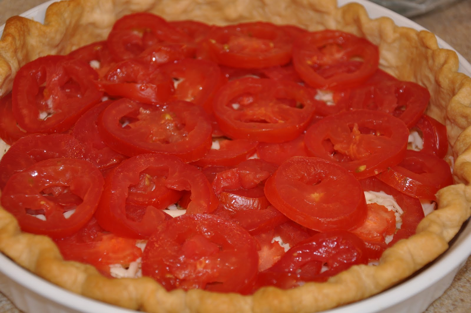 The Changeable Table: Tomato Basil Pie