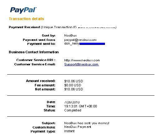 Here are my proof of payments from several PTC sites: