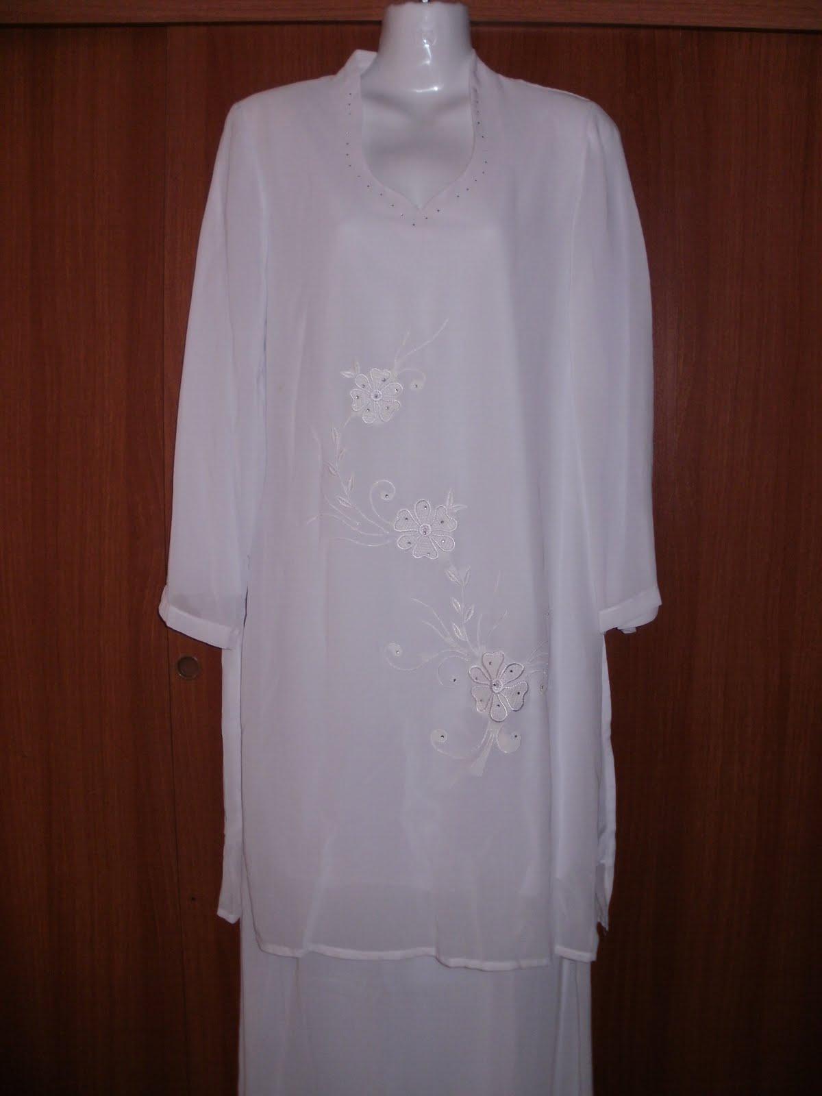 Baju Kebaya Putih Ainsyirah Collection Online Shopping