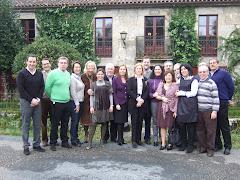Mª Jesús Sainz con Mariano Rajoy y Congresistas y Senadores de la provincia de A Coruña