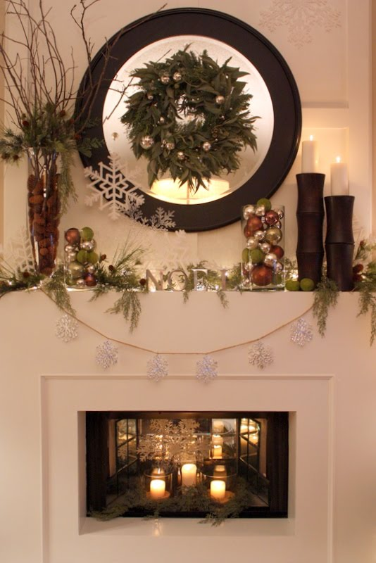 Sweet something designs christmas mantle 2010 for Christmas mantel design ideas