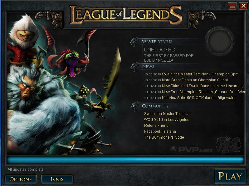 League Of Legends Asia: LOL By-Pass/Unlock Updates